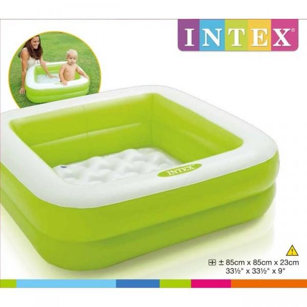 Надуваем басейн зелен Intex 57100