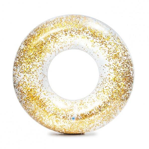 Детски прозрачен надуваем пояс INTEX Transperent Glitter